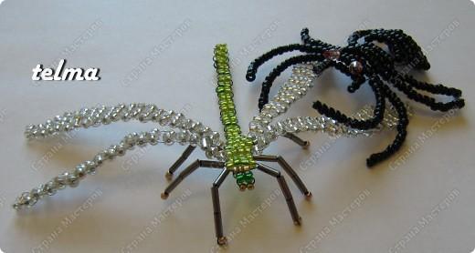 насекомые из бисера фото 4