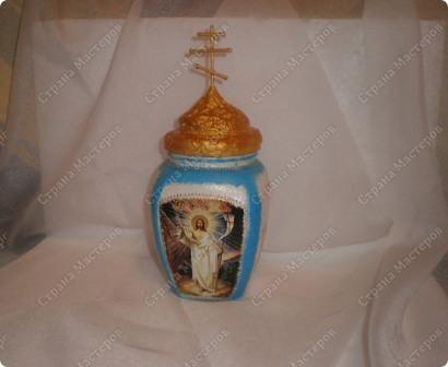 Церквушка (баночка для святой воды) . С одной стороны. фото 1