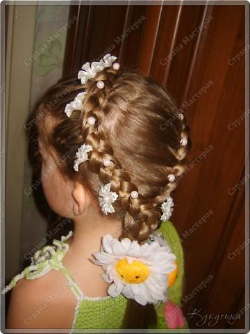 Вот такая причёсочка придумалась для нашего Ромашкового образа)? который представлен здесь http://stranamasterov.ru/node/179723 фото 2