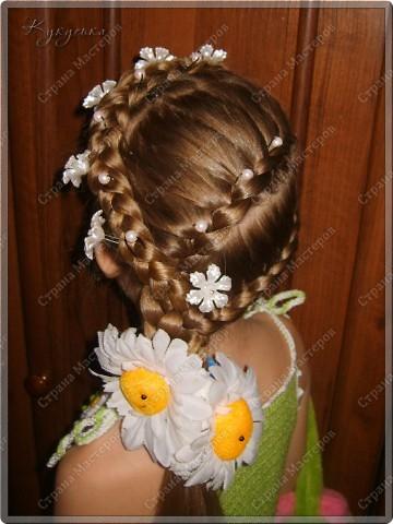 Вот такая причёсочка придумалась для нашего Ромашкового образа)? который представлен здесь http://stranamasterov.ru/node/179723 фото 1