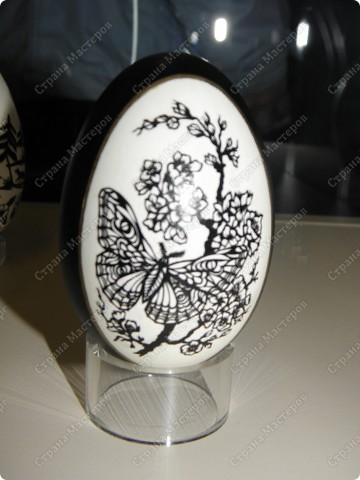 Продолжая начатую тему выставки пасхальных яиц. Это 2 часть.  Яйца украшены соломкой... фото 7