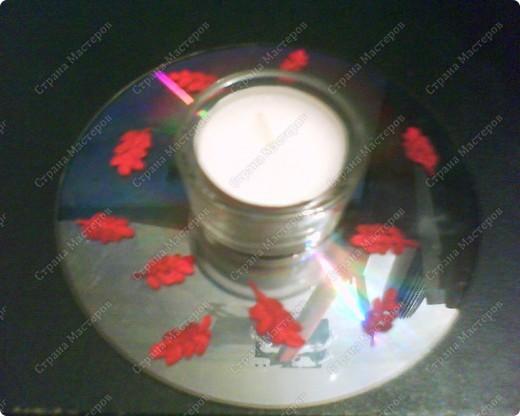 Подсвечники на Пасху из CD-дисков, раскрашенных акриловыми красками, и подсвечников из Икеи. фото 2