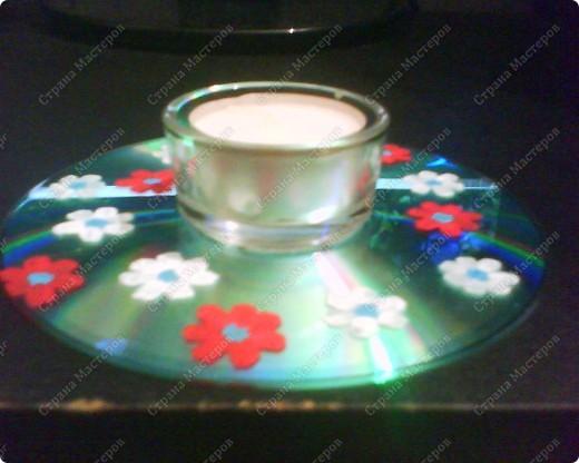 Подсвечники на Пасху из CD-дисков, раскрашенных акриловыми красками, и подсвечников из Икеи. фото 4