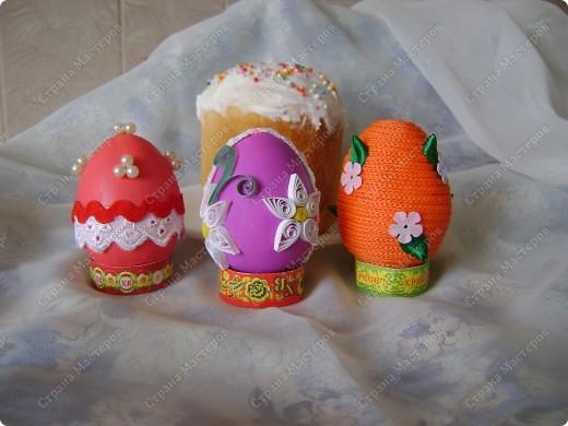 Пасхальные яйца в разных техниках и из разных материалов. фото 7