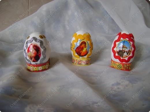 Пасхальные яйца в разных техниках и из разных материалов. фото 5