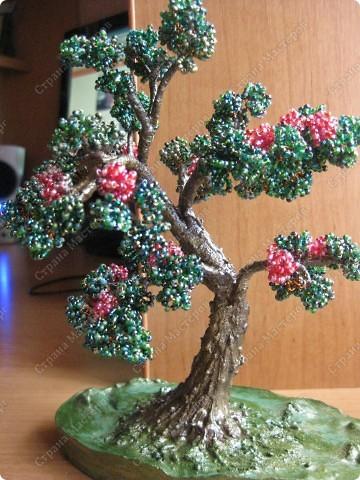 Бисероплетение - мои деревья -3 из бисера.