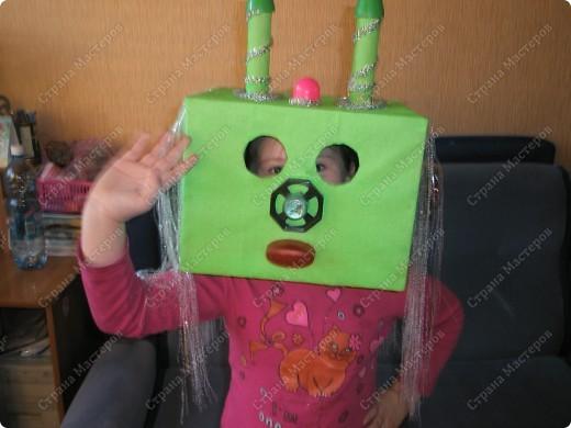 К дню космонавтики в  детском саду, сказали сделать костюм инопланетянина(только верх))???).... долго в голову ничего не приходило..., но время поджимало... и вот что у меня получилось)) фото 1
