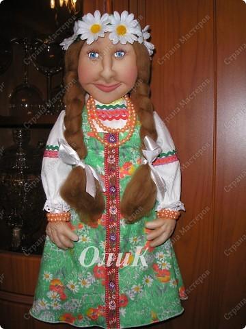 Хотела сделать совершенно другую куклу, ниже все покажу... фото 1