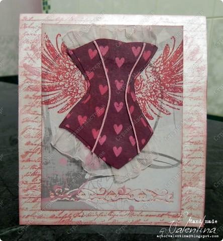 Как и в прошлый раз загружаю сразу несколько открыток, а подробнее можно посмотреть у меня в блоге. Я, кстати, себе в фотошопе собственную кисть сделала:)) Теперь она украшает мои открытки) Эта открытка сделана для коллеги по работе. фото 3