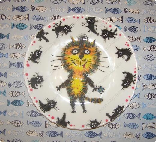"""тарелочка """"котейка"""" фото 1"""
