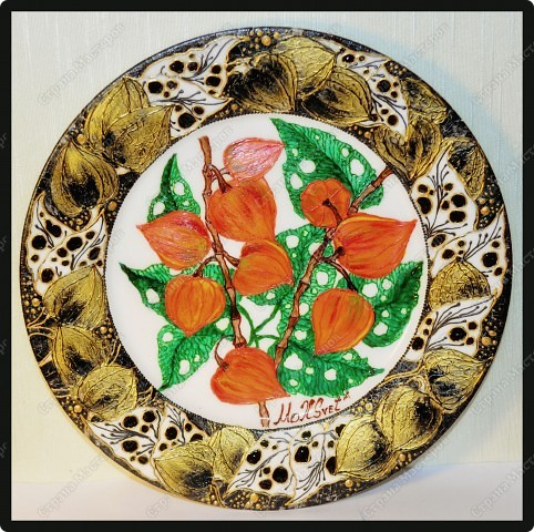 Авторская тарелка, выполнена по авторской технологии, в смешанной технике. фото 2