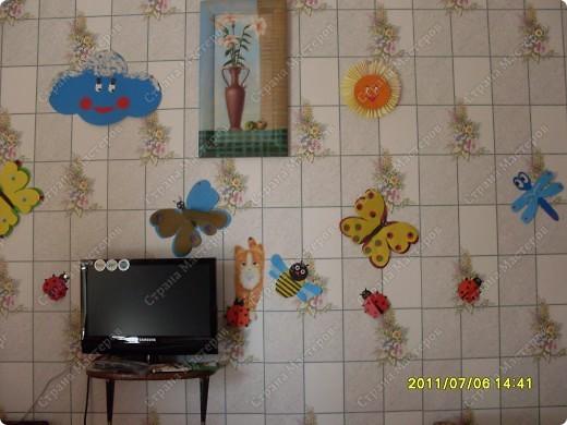Спасибо стране мастеров. Подсмотрели мастер-класс по украшению класса и  с сыном решили украсить стену кухни.  фото 2