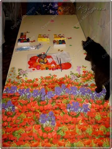 Цветочное поле, которое расцвело у моей Манюньки на двери фото 2