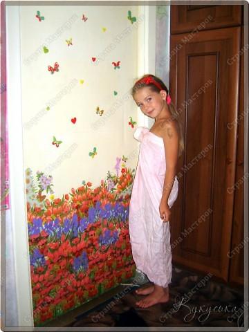 Цветочное поле, которое расцвело у моей Манюньки на двери фото 4