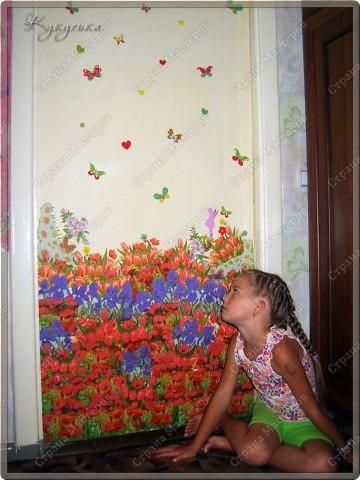 Цветочное поле, которое расцвело у моей Манюньки на двери фото 3