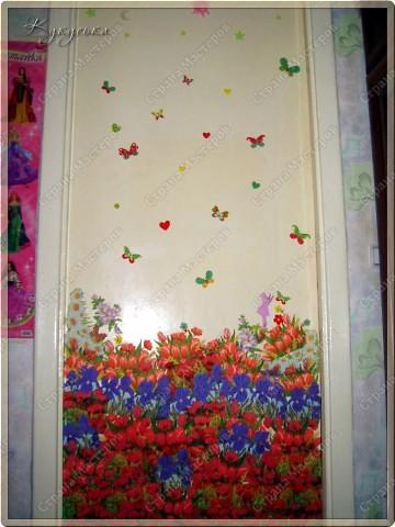 Цветочное поле, которое расцвело у моей Манюньки на двери фото 5