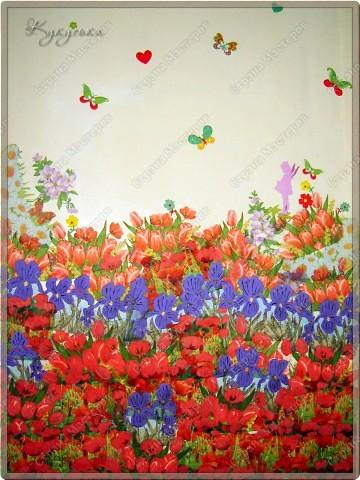 Цветочное поле, которое расцвело у моей Манюньки на двери фото 1
