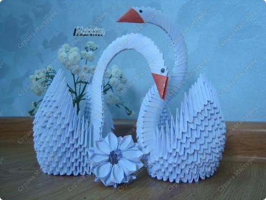 Это моя вторая работа, получилось лучше чем первая)) за задумку спасибо стране мастеров.  http://stranamasterov.ru/technic/swan фото 2