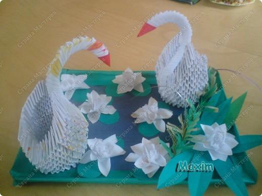 Это моя вторая работа, получилось лучше чем первая)) за задумку спасибо стране мастеров.  http://stranamasterov.ru/technic/swan фото 3