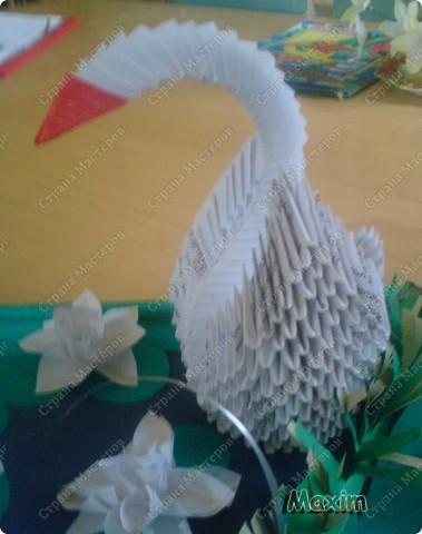 Это моя вторая работа, получилось лучше чем первая)) за задумку спасибо стране мастеров.  http://stranamasterov.ru/technic/swan фото 4