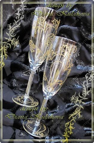"""Свадебные бокалы для битья """"На счастье!"""" фото 2"""