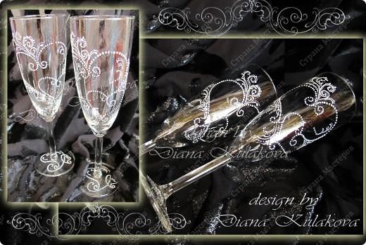 """Свадебные бокалы для битья """"На счастье!"""" фото 4"""