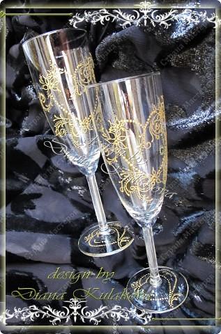 """Свадебные бокалы для битья """"На счастье!"""" фото 3"""