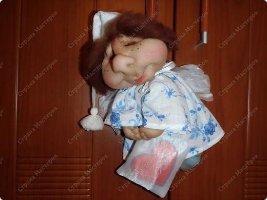 Ангелочек-сплюша, сделала его побольше размером 20 см примерно. фото 3