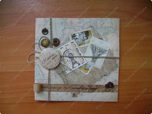 Ну вот родила открытку из подаренного мужем набора.   http://stranamasterov.ru/node/221531 фото 1