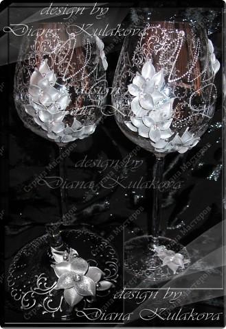 Бокалы на серебрянную свадьбу (660мл) фото 1