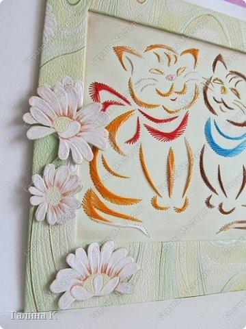 Таких котяток увидела в виде схемы вышивки крестом.Очень они мне понравились, но решила вышить их в технике изонить. фото 2