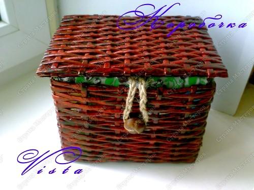 Внешний вид коробочки для рукоделия.