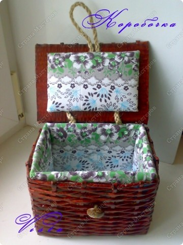 Внешний вид коробочки для рукоделия. фото 2