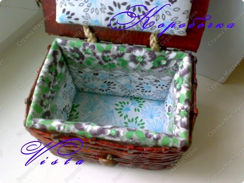 Внешний вид коробочки для рукоделия. фото 3