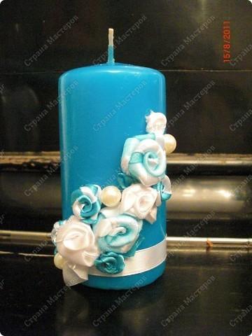 Бокалы свадебные, свечки (№1) фото 4