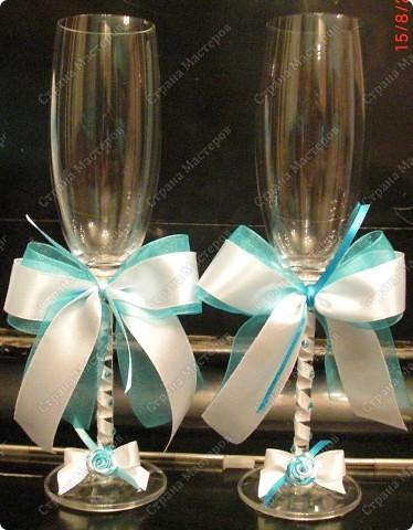 Бокалы свадебные, свечки (№1) фото 1