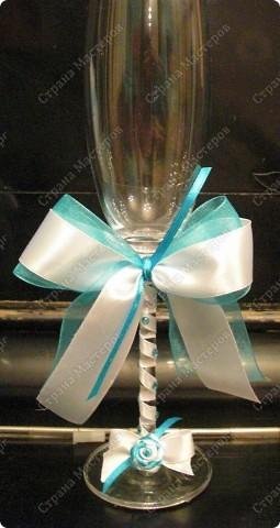Бокалы свадебные, свечки (№1) фото 2