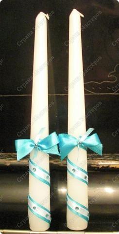 Бокалы свадебные, свечки (№1) фото 3