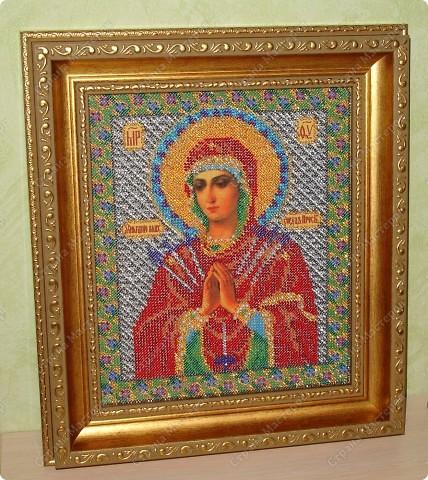 """Икона из бисера """"Богородица Умягчение злых сердец"""" фото 2"""