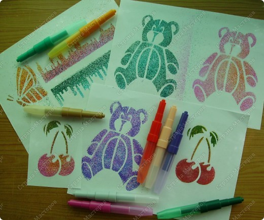 """Вот это чудо! Я их назвала """"Брызгающие фломастеры"""", на упаковке написано """"Блопенс""""(да простят меня знатоки английского!"""") 10 цветов +4 картонных трафарета. фото 8"""