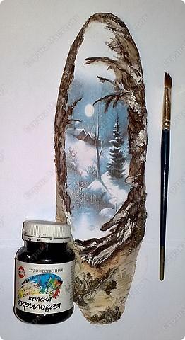 Декор предметов Новый год Декупаж Зимняя сказка Дерево Клей Краска Салфетки фото 4