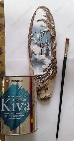 Декор предметов Новый год Декупаж Зимняя сказка Дерево Клей Краска Салфетки фото 6