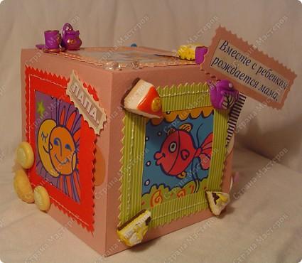 Куб - рамка  с фотографиями всех членов семьи, для мужа в подарок.  Сказал что унесёт на работу, там и будет любоваться))) фото 8