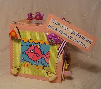 Куб - рамка  с фотографиями всех членов семьи, для мужа в подарок.  Сказал что унесёт на работу, там и будет любоваться))) фото 6