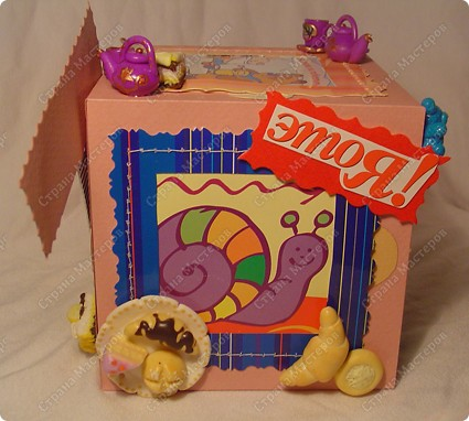 Куб - рамка  с фотографиями всех членов семьи, для мужа в подарок.  Сказал что унесёт на работу, там и будет любоваться))) фото 7