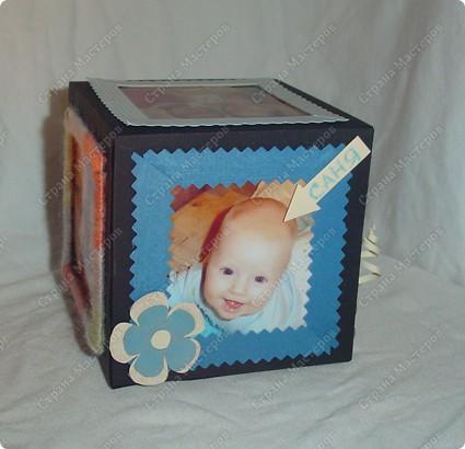Куб - рамка  с фотографиями всех членов семьи, для мужа в подарок.  Сказал что унесёт на работу, там и будет любоваться))) фото 1