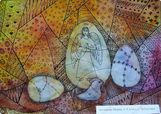 Натюрморт к Пасхе. Рисовала на занятиях в художественной школе. фото 1