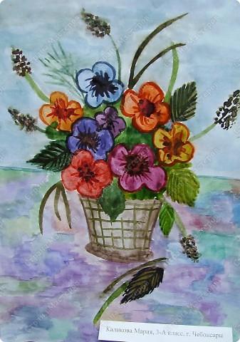 Натюрморт к Пасхе. Рисовала на занятиях в художественной школе. фото 2