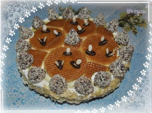 """Тортик пекла на день рождения своего папы. Он у меня пчеловод, так что в приготовлении """"учавствовал"""" настоящий домашний мед :-)))  фото 1"""