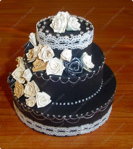 Захотелось мне сделать, чёрно-белый торт....  фото 2